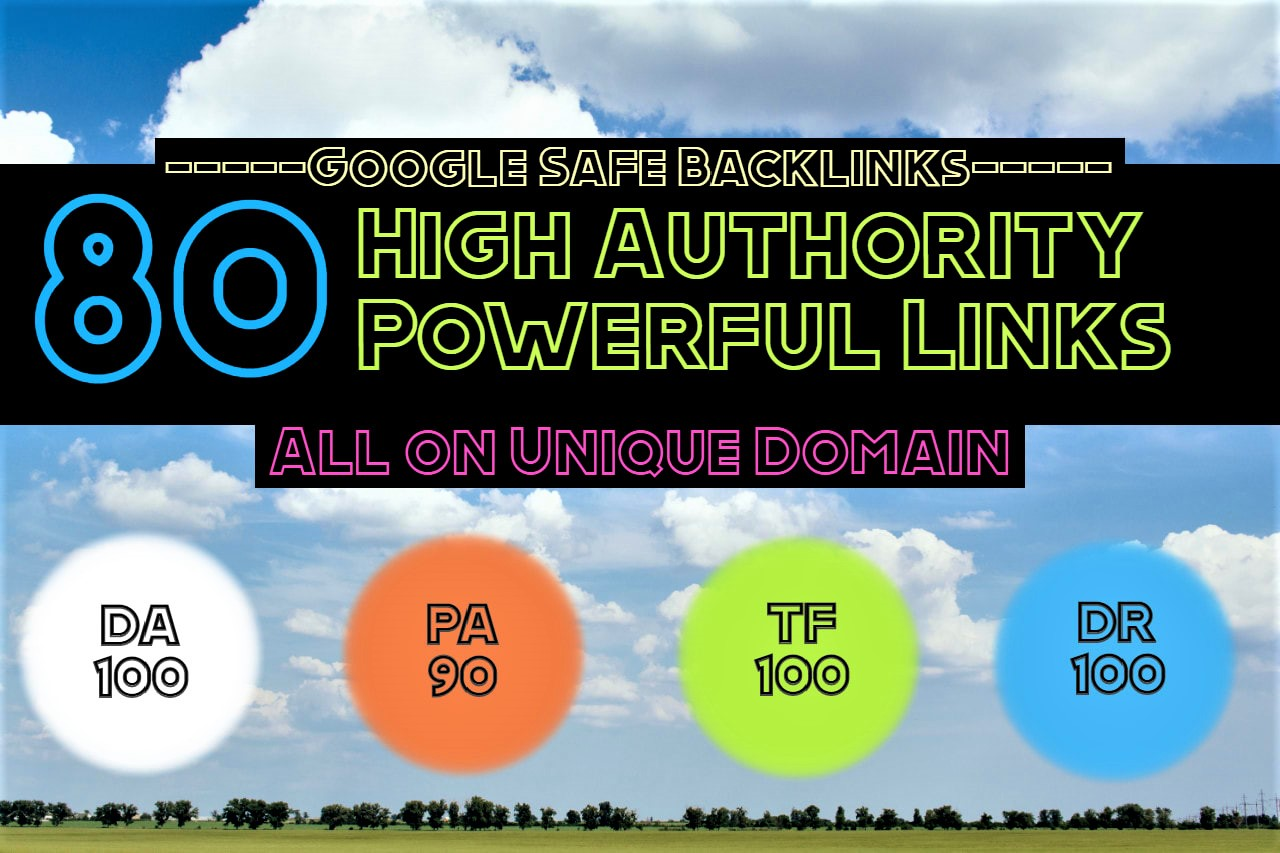 I will make 80 unique high and dofollow backlinks for your site
