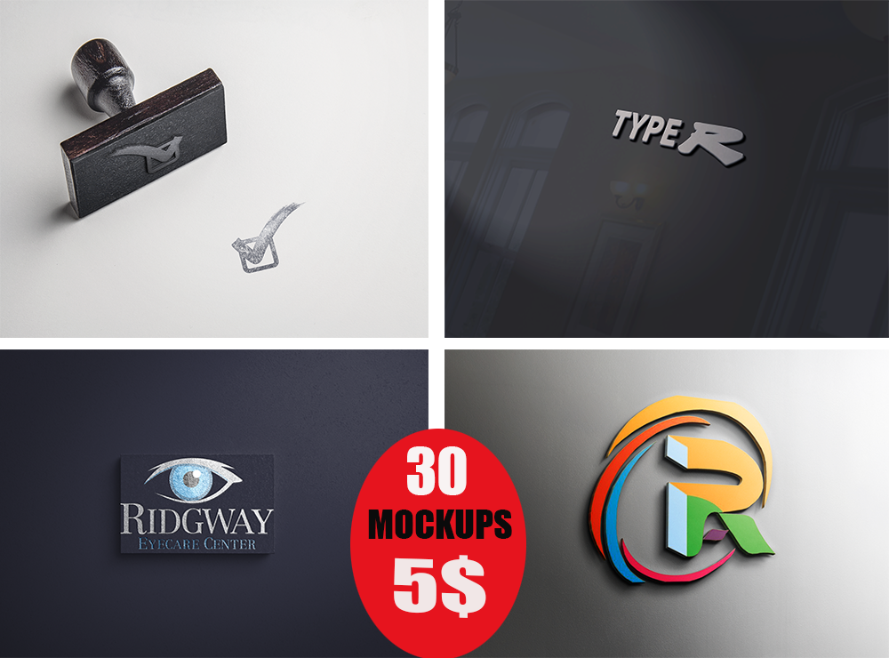 I will create 15 luxury mockups for your logo