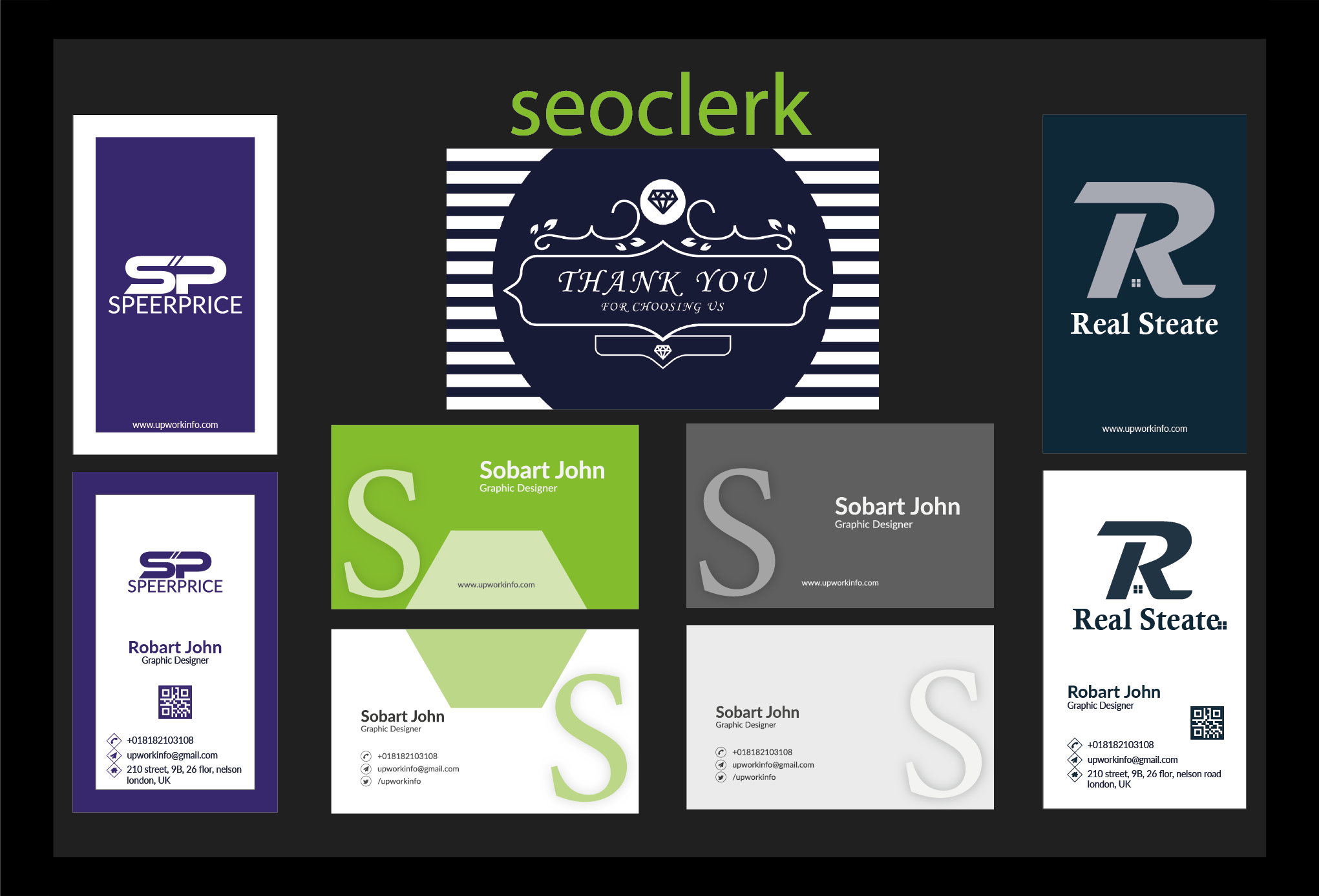 I will do professional Simple,  Modern & Luxury business card design.