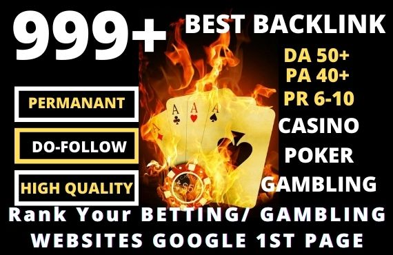 Affordable Permanent 999+ Casino,  Poker,  Gambling,  Sports Betting High-quality Web 2.0 Backlink
