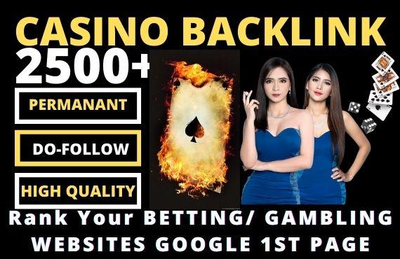 2500 Permanent CASINO Backlinks high DA 50+ PA 40+ PR6+ Web 2.0 Dofollow backlinks from unique webs