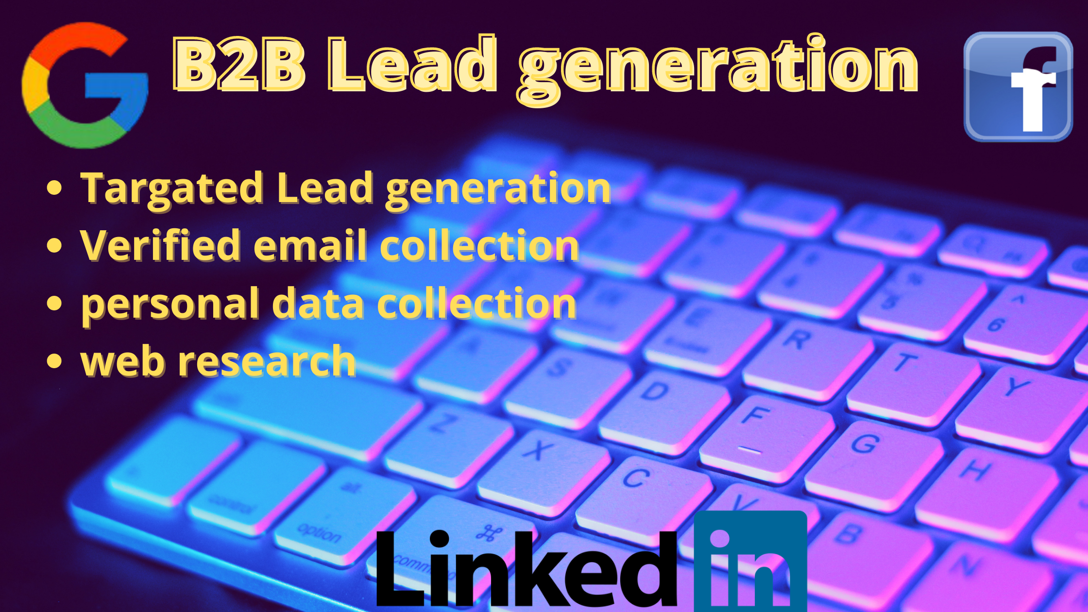 I will Provide you 100 B2B Leads whiten 24 hour