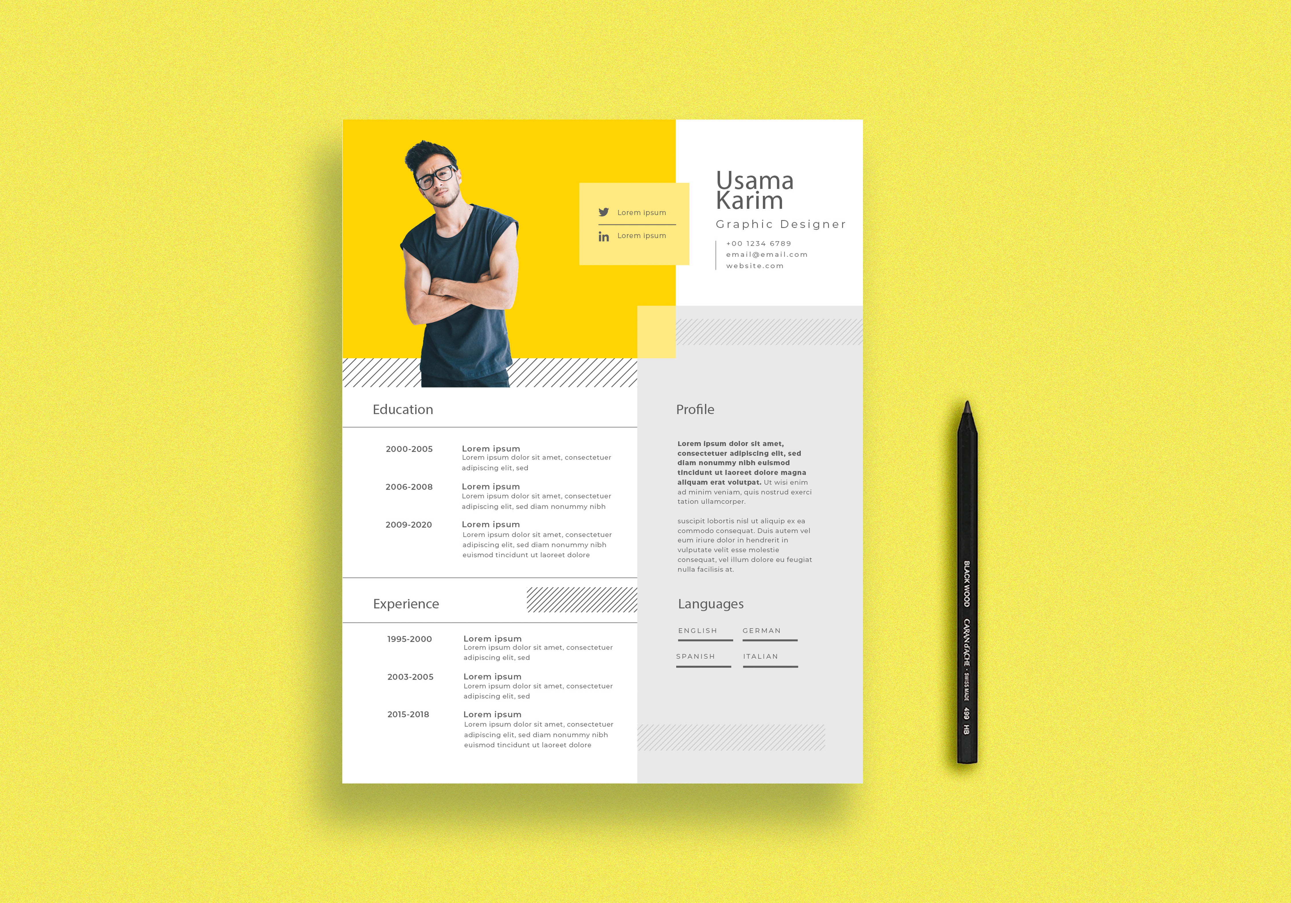 I will design professional resume or cv template