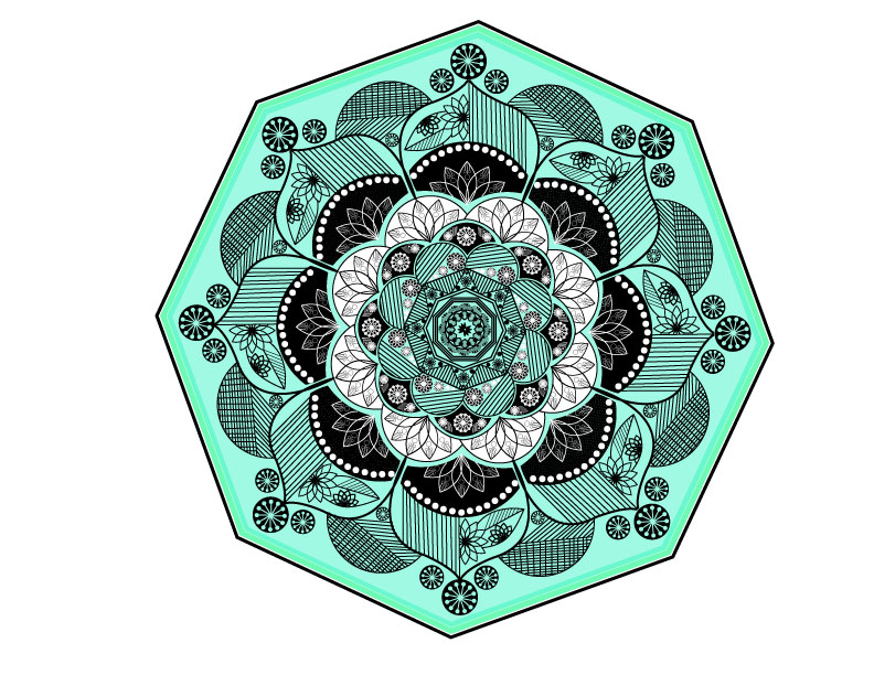 I will create floral beautiful printable adult mandala