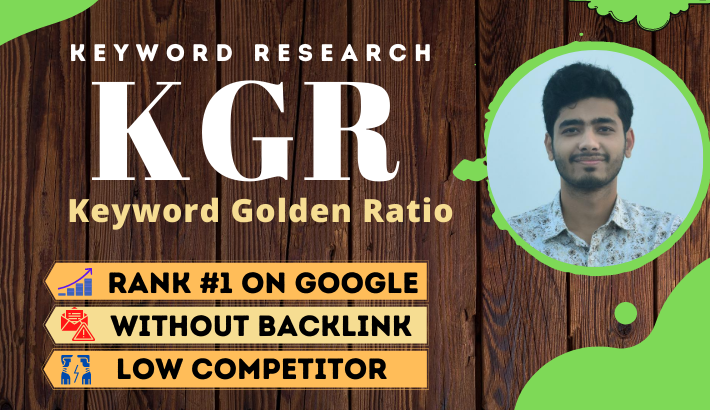 I will do SEO KGR keyword research in 24 hours