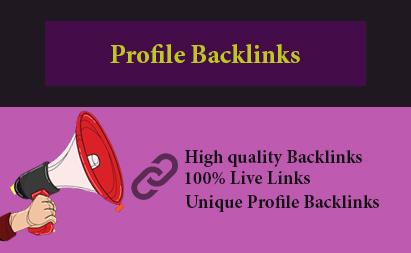 I will create 60 high quality Profile Backlinks