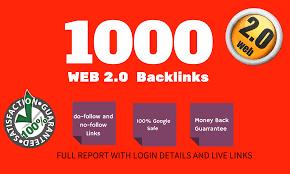 I will create 1000 google high authority web 2.0 dofollow backlinks