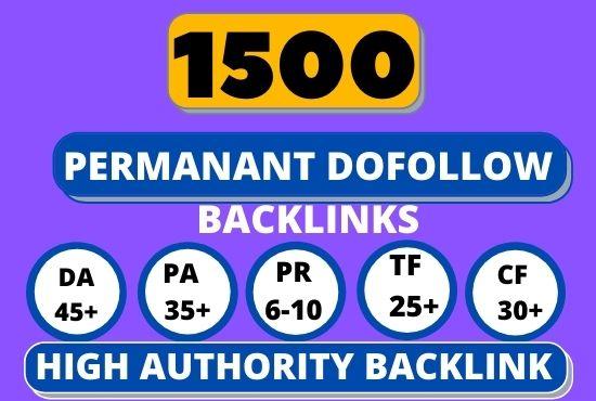 I will build 1500 high quality dofollow SEO backlinks to rank website