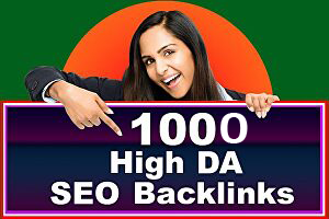 I will do 1000 high DA backlinks for rank your website