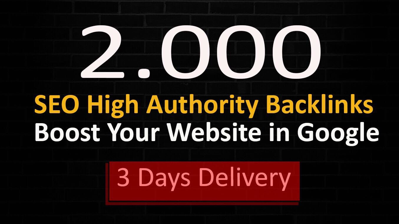 I will boost your website with 2000 high quality backlinks,link building