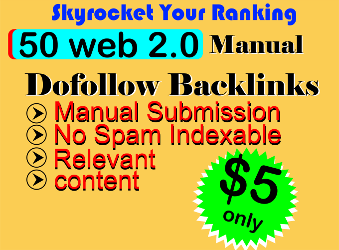 I will create google high authority web 2.0 dofollow backlinks
