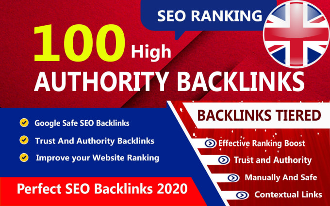 I will boost your rankings with 100 high authority dofollow SEO backlinks UK seller