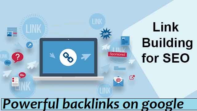 I will Powerful backlinks on google top ranking