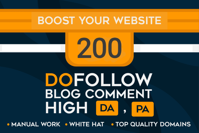 I will make high quality 200 DOFOLLOW backlinks using blog comments