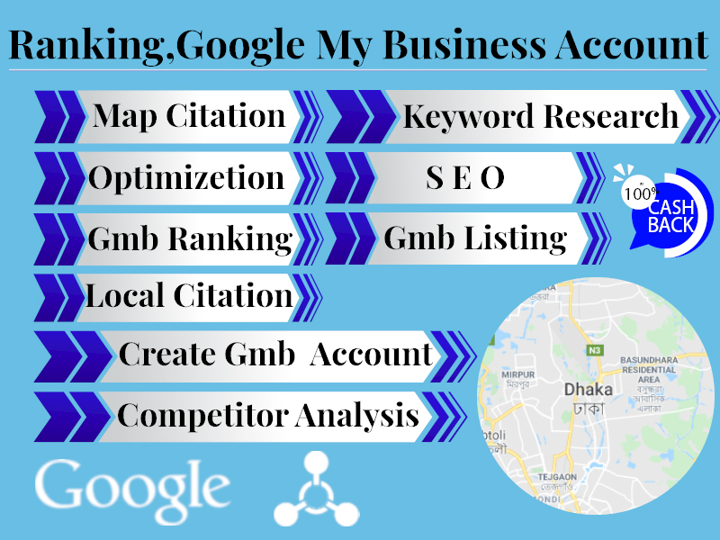 I will do create,  optimize,  rank and google my business