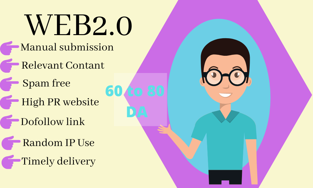Complete SEO Pack with Manual Link Buildings Get 30 Web2.0 Backlink with reports