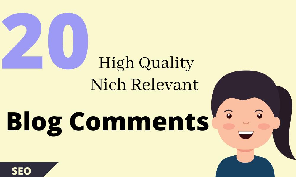 Make High DA-PA 20 Manually Dofollow Blog Commenting SEO Backlinks