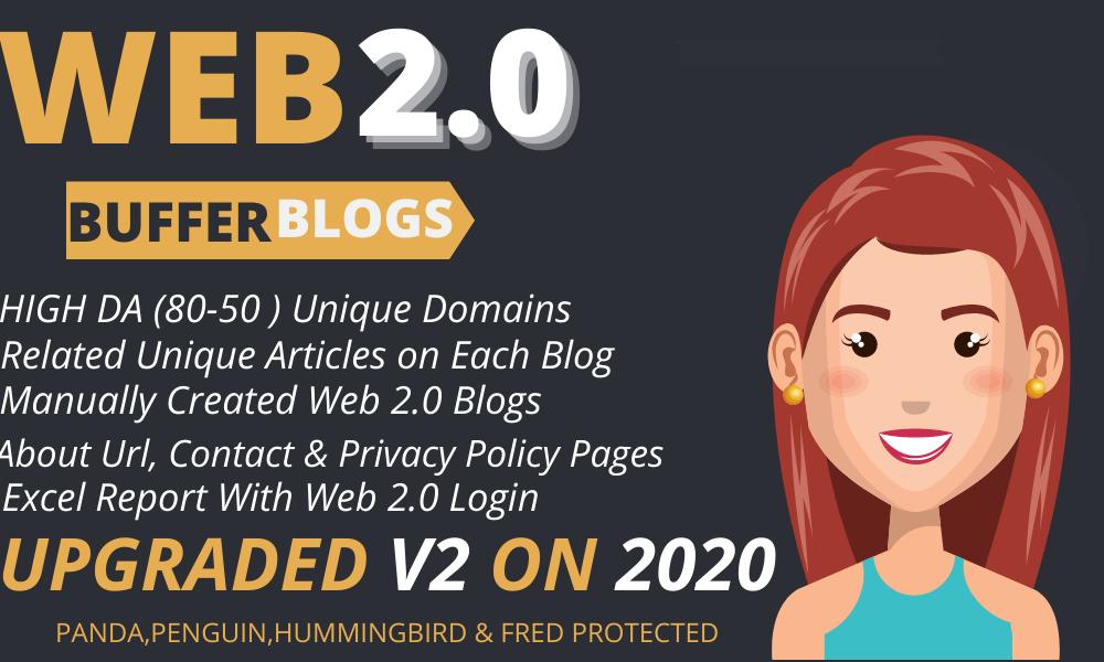 Rank on Google 1st page with High DA Web2.0 Backlinks
