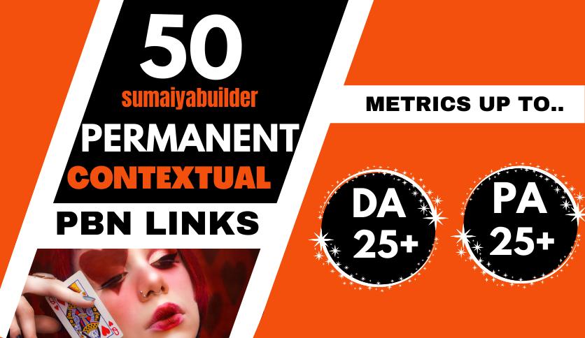 Build 50 High Metrics Powerful PBN Backlink homepage web 2.0 with HIGH DA/PA/CF/TF Backlinks