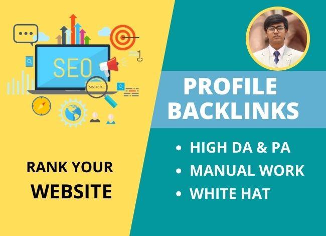 I Will Build 50 High DA & PA Dofollow Profile Backlinks Manually