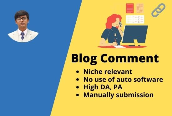 I will do 50 niche relevant blog comments SEO backlinks for your website