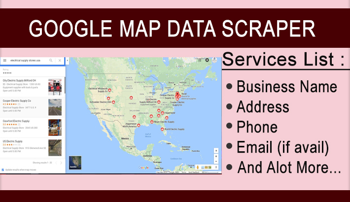I will do google map data scraping 500 records