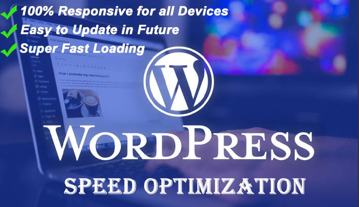 I will increase wordpress website speed in 24hr