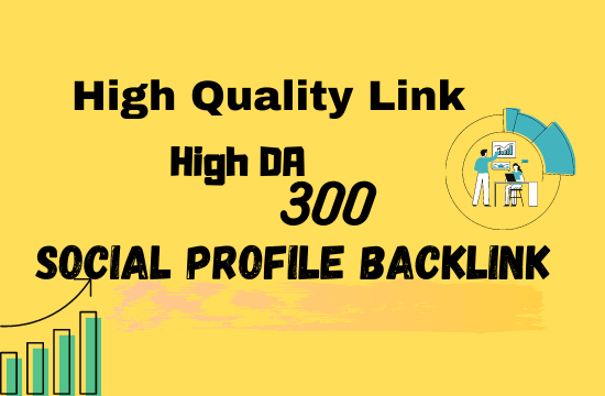 I will 300 high quality do follow profile backlinks