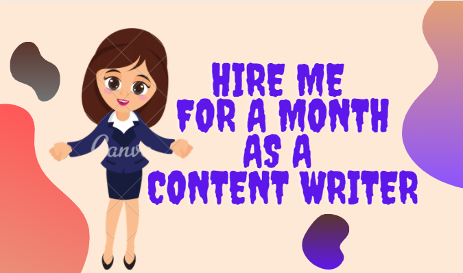 I will be your SEO Content Writer for a month.