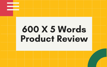 600X5 Words Product Review Articles