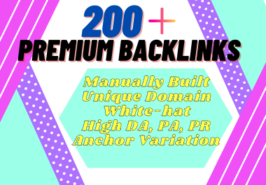 200 anchor text SEO do-follow backlinks,  link building