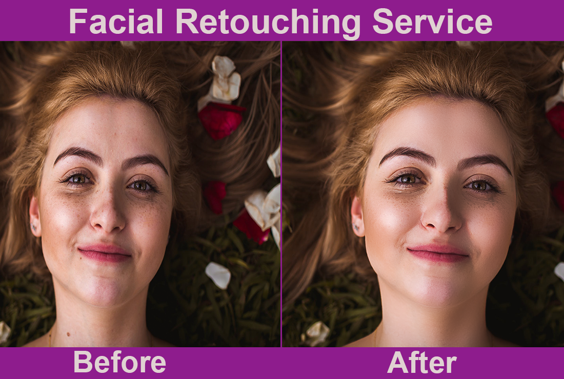 I will do your facial retouching for 2 photos within 3 hours