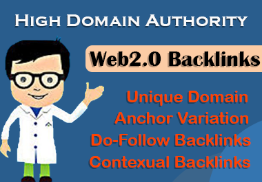 Get 20 High Domain Authority Web2.0 Backlinks