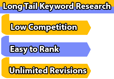I will do 50 long tail keyword research for your website
