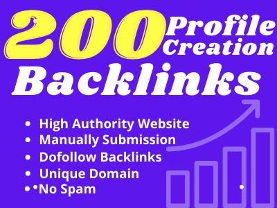200 Dofollow High DA & PA Social Profile Backlinks