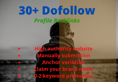 I Will Build 30 High Authority Profile Back-links Manually Website SEO