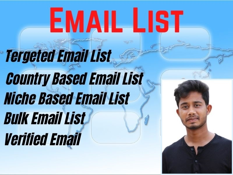 I will collect a 1000 niche targeted clean and verified bulk email list for your business