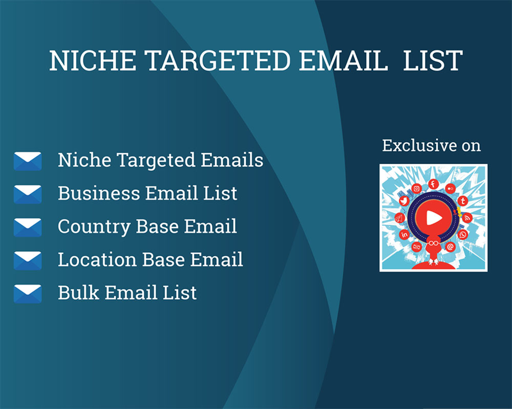 I will find niche targeted email list clean and verified