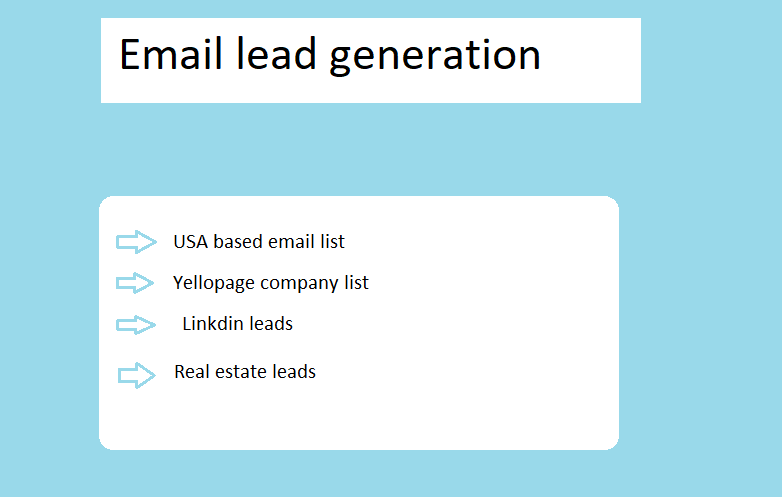 I will provide USA based target valid email list.b2b list.
