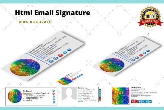 I will do html email signature