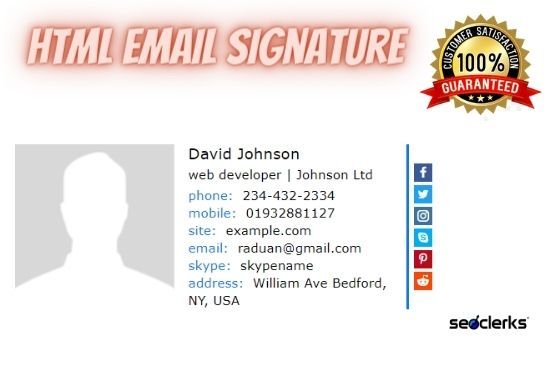 I will do html email signature