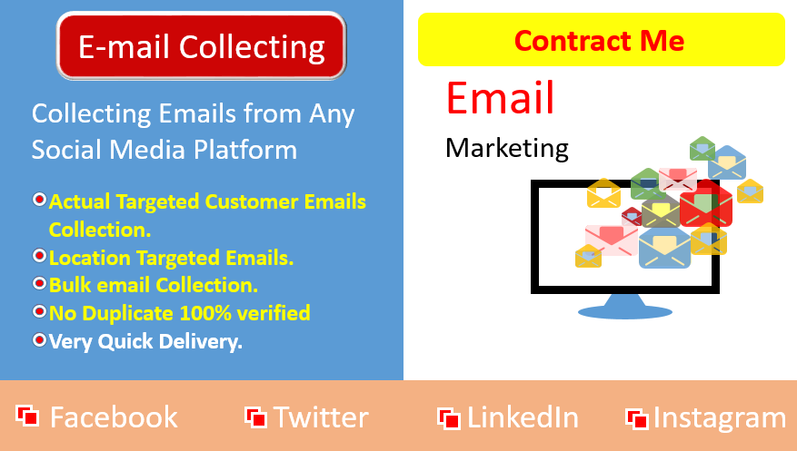 I will collect 1K valid Emails for your Business Promotion