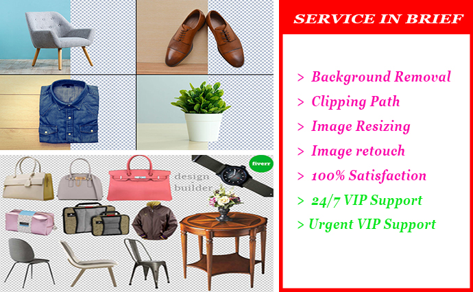 I will do background remove and fast delivery