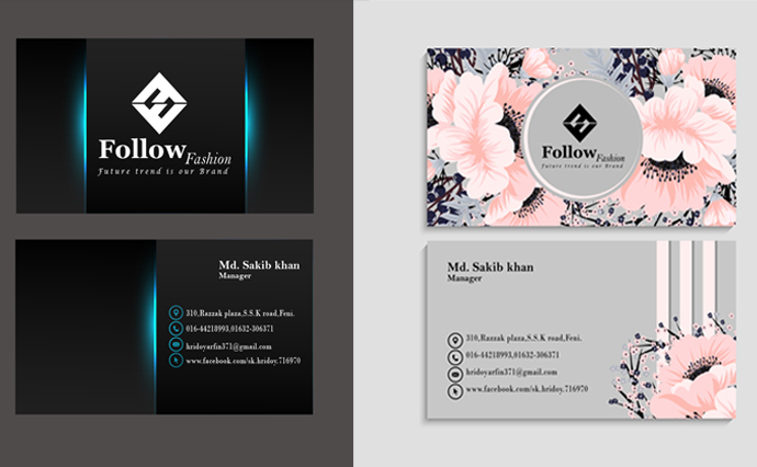 I will create an unique business card within 24 hours