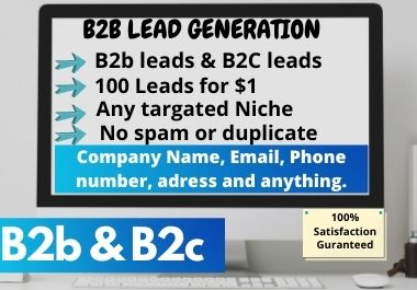 i will collect b2b targeted leads and lead generation, 100 leads