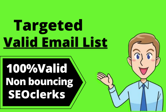 I will provide valid targetemail list