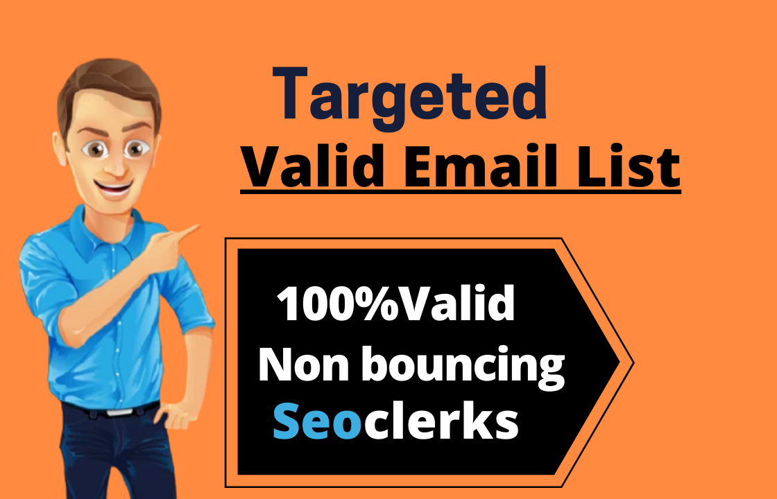 I will provide bulk targeted niches clean verified email list for email marketing