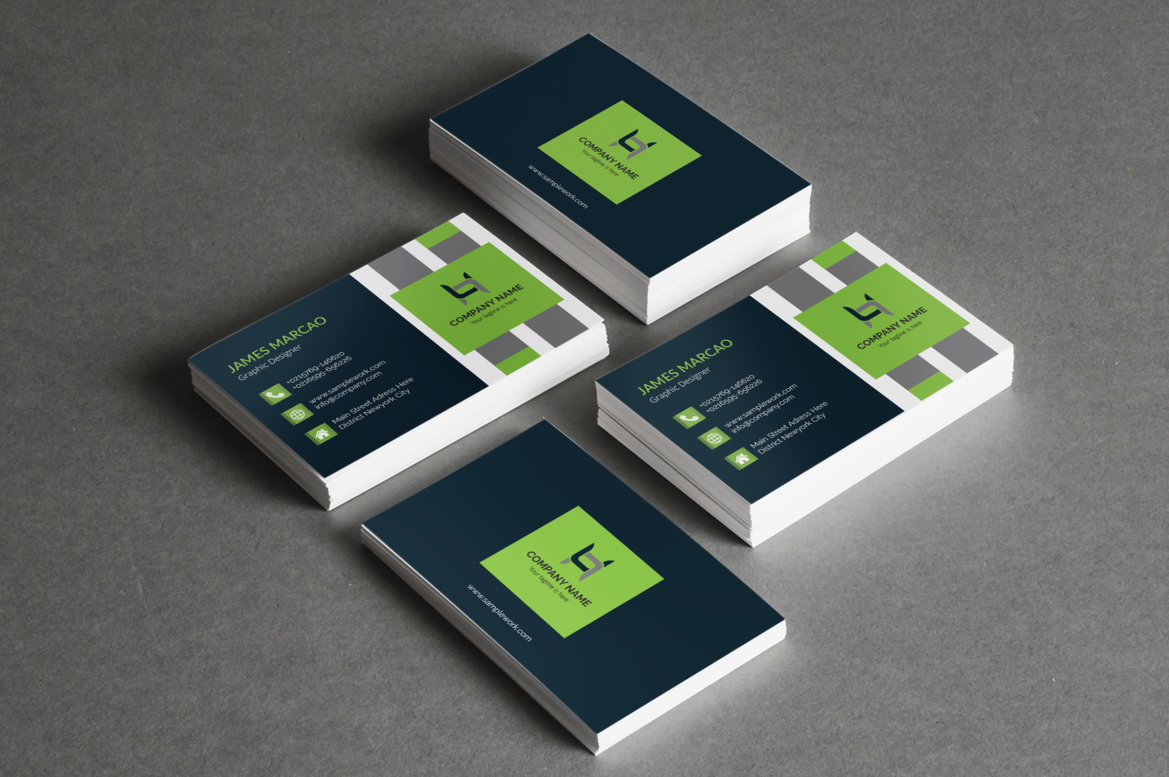 I will do unique modern and creative Business card design