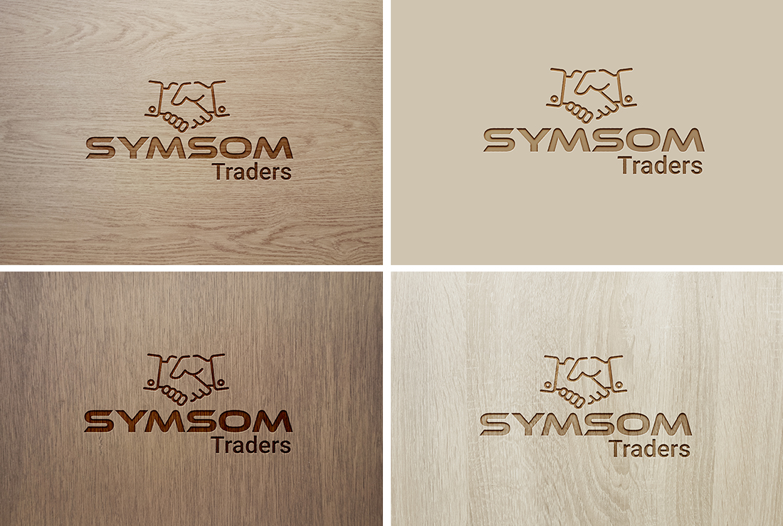 Carve your logo in wood version, Leather, Steel or 3D glass mockup