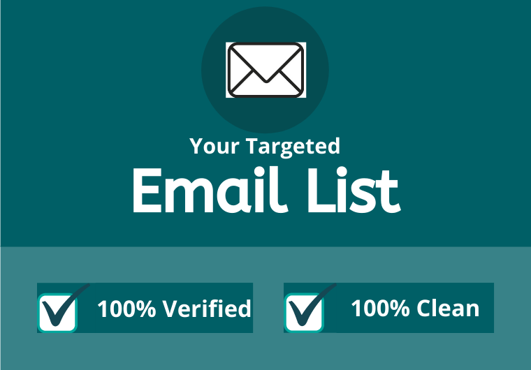 You will get 3000 USA verified emails targeted emails